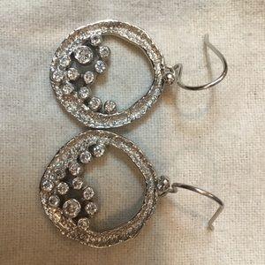Melinda Maria silver cluster earrings